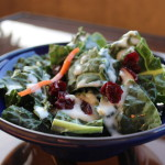 Kale Salad with a Ginger, Honey & Yogurt dressing