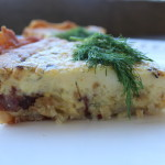 Smoked Duck and Leek Quiche (Gluten Free Option)
