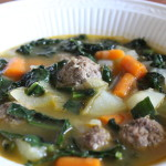 Kale Soup with Meatballs
